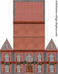 Cardboard Model House Template Printable model template