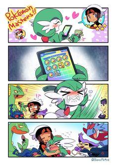 Bano's Nest — Gardevoir picked Brendan on Pokemon Masters ! Pokemon Mew, Pokemon Manga, Sexy Pokemon, Pokemon Comics, Pokemon Funny, Cute Comics, Funny Comics, Gardevoir Comic, Pokemon Stories