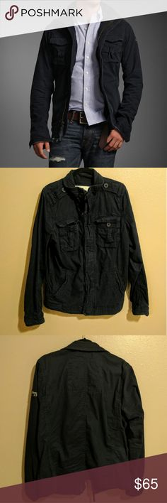Men's Abercrombie Navy Jacket Authentic Abercrombie and Fitch Men's Navy zip up jacket. Purchased last winter from their website. NO TRADES. PRICE IS FIRM. IN EXCELLENT CONDITION. Abercrombie & Fitch Jackets & Coats Military & Field
