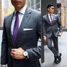 @levitatestyle sporting an upscale look using pinstripes and our Solid Texture tie. $19 at www.TheTieBar.com