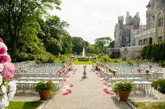 Garden ceremony at Casa Loma. Summer Wedding, Our Wedding, Wedding Venues, Dream Wedding, Wedding Dreams, Wedding Things, Wedding Stuff, Music Garden, Outdoor Venues