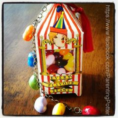 Bertie Botts ornament for Harry Potter tree! all you need is a printer and some polymer clay!