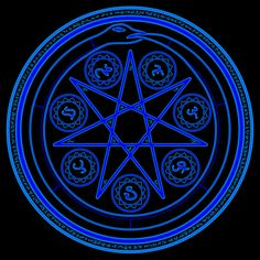 Black Magic Circle | Magic circle by vylen