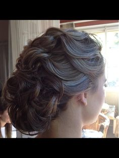 Formal Hair Style / Bride or Bridesmaid Hairstyle - Elegant Upstyle  Hair style by rose mossman www.facebook.com/0myaddictionmakeup - contact me for bookings
