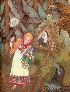 Vasilisa the Beautiful, by Adrienne Segur (1901-1981)