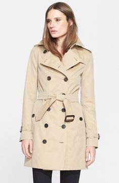 Burberry London 'Sandringham' Slim Trench Coat available at #Nordstrom