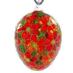 """Faith"" Hand Blown Glass Easter Egg Ornament."