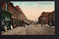 Kidderminster - The Butts - colour printed postcard. This is looking towards St Mary's Church, seen behind the chimney. Behind the photographer is the road to Bewdley. This whole vista has now gone and is a roundabout on the ring road.