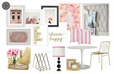 Glam, and Preppy Office by Havenly