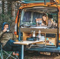 Van Camping, Kombi Trailer, Minivan Camper Conversion, Van Conversion Interior, Conversion Van, Build A Camper Van, Monospace, Transit Camper, Kombi Home