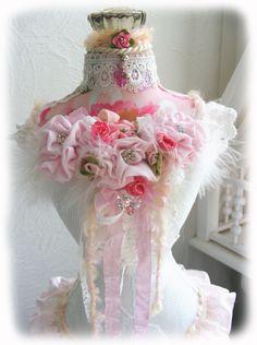 Original Dress Form Mannequin Shabby Rose