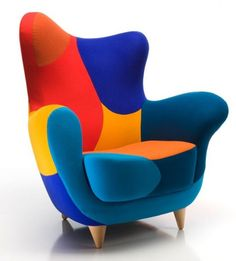 Fancy Trendy And Adorable Armchair Design With Colorful Fabric