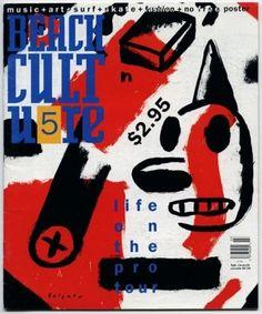 David Carson (designer), Beach Culture magazine cover, 1991