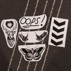 One Direction Tattoo Sticker Pack by geopup on Etsy