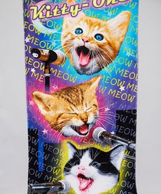 Another great find on #zulily! Purple 'Kitty-Oke' Beach Towel by Island Gear #zulilyfinds