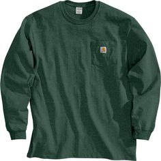 Carhartt Men's Workwear Long Sleeve Shirt - Big & Tall, Size: Small, Green