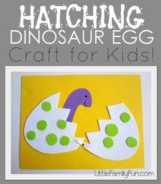 Little Family Fun: Hatching Dinosaur Egg Craft