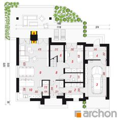 Dom w wetiweriach Floor Plans, House 2, Floor Plan Drawing