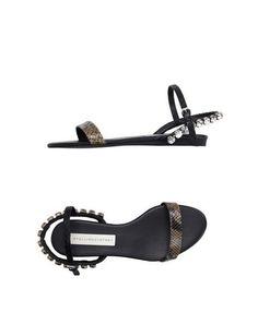 STELLA MCCARTNEY Sandals. #stellamccartney #shoes #leather #flat #stone #sandals #sandal