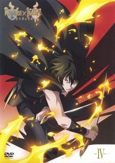 Tybalt, serious, angry, dual wielding, daggers, swords, fire, cool; Romeo x Juliet