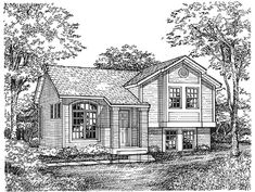 Traditional Elevation of Plan 88163