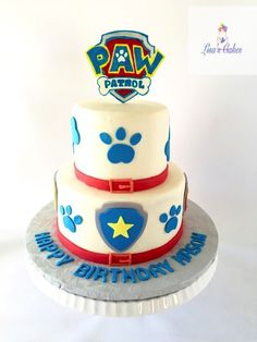 Buttercream iced cakes - Paw Patrol theme