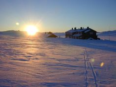 Rauhelleren mountain lodge in Hardangervidda National Park, Norway. Excellent for hiking and fishing in summertime.