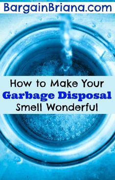 How to Make Your Garbage Disposal Smell Wonderful