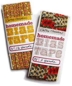 Make your own Bias Tape with the Simplicity Rotary Cutter & Embosser. Then, print out these cute labels with these fun printables!