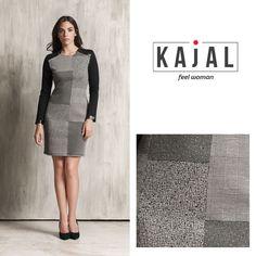 kajal  kajalmoda  dress  abito  corto  grey  grigio  quadri  fallwinter   elegant  casual  ideas  outfit  feelwoman  gonna  camicetta  donna   outfitoftheday ... 827b683659b