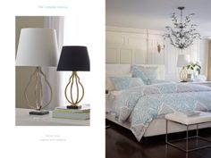 Harper Lamp and Legends Manor Bedding
