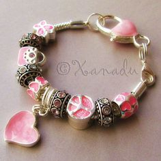 Pretty In Pink European Charm Bracelet  Small by xanaducharms, $19.95