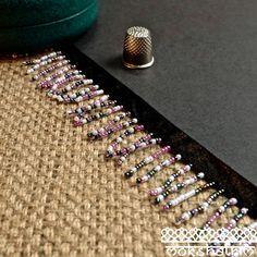 White Irridescent Blue Pink Beaded Fringe MA531 | Mokshatrim | Exotic trims lace and haberdashery Cerise Pink, Beaded Trim, Fringe Trim, Black Satin, Pearl White, Iridescent, Seed Beads, Diamond Earrings, Beaded Bracelets