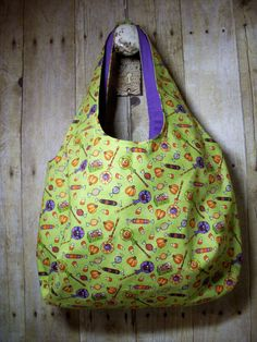 SALE Hobo Tote Bag Halloween Treats Handmade by MicheleMadeThis