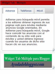 ¿Cómo insertar un área de contenido con múltiples paneles en un widget de Blogger? Versión 1