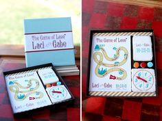 Game Board (kan dit meer classy probeer maak!) | 16 Alternative Wedding Invitations And Save The Dates