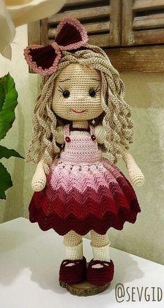 Free Amigurumi Crochet Doll Pattern and Design ideas – Page 8 of 37 – Daily Crochet! Free Amigurumi Crochet Doll Pattern and Design ideas – Page 8 of 37 – Daily Crochet!Free cute amigurumi patterns 25 amazing crochet ideas for beginners to make ea Crochet Dolls Free Patterns, Crochet Doll Pattern, Amigurumi Patterns, Crochet Girls, Cute Crochet, Crochet Baby, Knitted Dolls, Cute Dolls, Amigurumi Doll