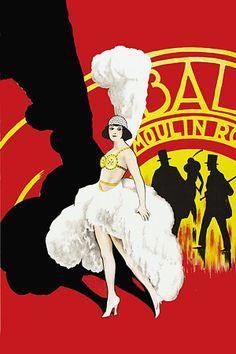 Moulin Rouge Vintage Poster Print