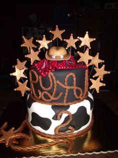 Western - Fondant covered cake with fondant decorations.