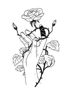 Pin by bryn on art Art Sketches, Art Drawings, Tattoo Motive, Desenho Tattoo, Rose Tattoos, Dark Art, Art Inspo, Line Art, Body Art