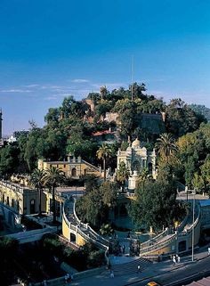 Santa Lucia park and monument in Santiago, Chile. Places To Travel, Places To See, Cap Horn, Cerro Santa Lucia, Places Around The World, Around The Worlds, Magic Places, South America Travel, Tours