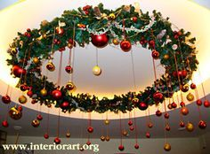 Just a wild idea 💡 Christmas Stage, Outdoor Christmas, Christmas Lights, Christmas Diy, Christmas Wreaths, Christmas Ornaments, Simple Christmas, Christmas Ceiling Decorations, Christmas Chandelier