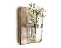 wooden wall hanging - wall jar vase