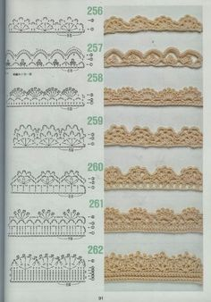 free crochet patterns for crochet borders Crochet Boarders, Crochet Edging Patterns, Crochet Lace Edging, Crochet Diagram, Crochet Chart, Crochet Trim, Filet Crochet, Diy Crochet, Crochet Designs