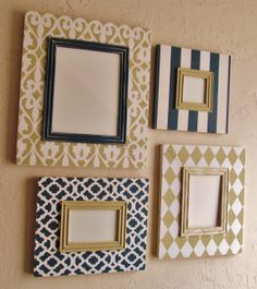 Set of Four Distressed Frames Scroll Moroccan by AmberLaneFrames