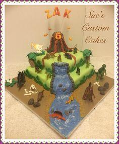 Dinosaur Cake Volcano, Jurassic