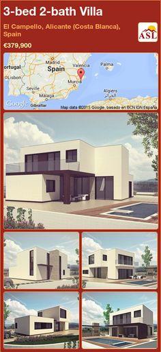 3-bed 2-bath Villa in El Campello, Alicante (Costa Blanca), Spain ►€379,900 #PropertyForSaleInSpain
