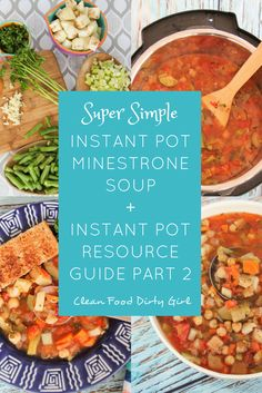 Plant Based Oil Free Instant Pot Minestrone Soup