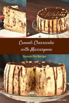 I can't even tell you how AMAZING this cannoli cheesecake was. Well I can. I can't even tell you how AMAZING this cannoli cheesecake was. Well I can. It was AMAZING. Just Desserts, Delicious Desserts, Dessert Recipes, Italian Desserts, Instant Pot Pressure Cooker, Pressure Cooker Recipes, Pressure Cooker Cheesecake, Food Cakes, Cupcake Cakes