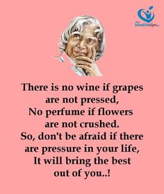 don't be afraid if there are pressure in your life. Apj Quotes, People Quotes, Wisdom Quotes, True Quotes, Words Quotes, Hindi Quotes, Sayings, Genius Quotes, Amazing Quotes